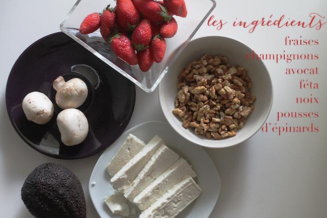 les ingrédients - Strawberry Salad