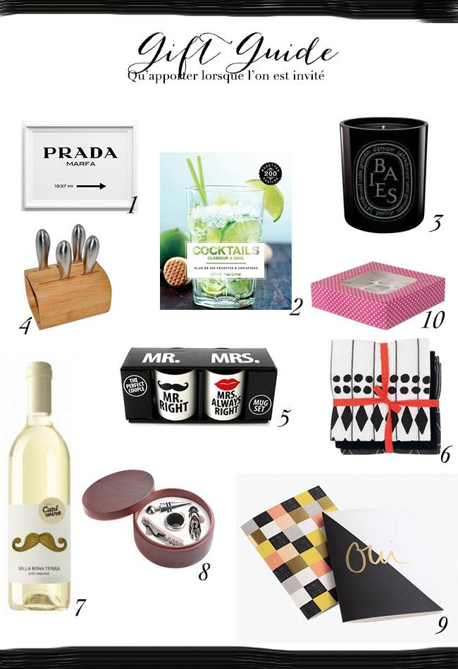 Gift guide - qu'apporter lorsque l'on est invité
