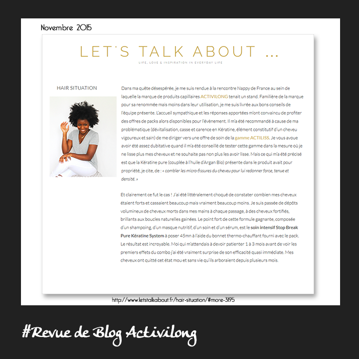 Let's Talk About - Activilong Paris