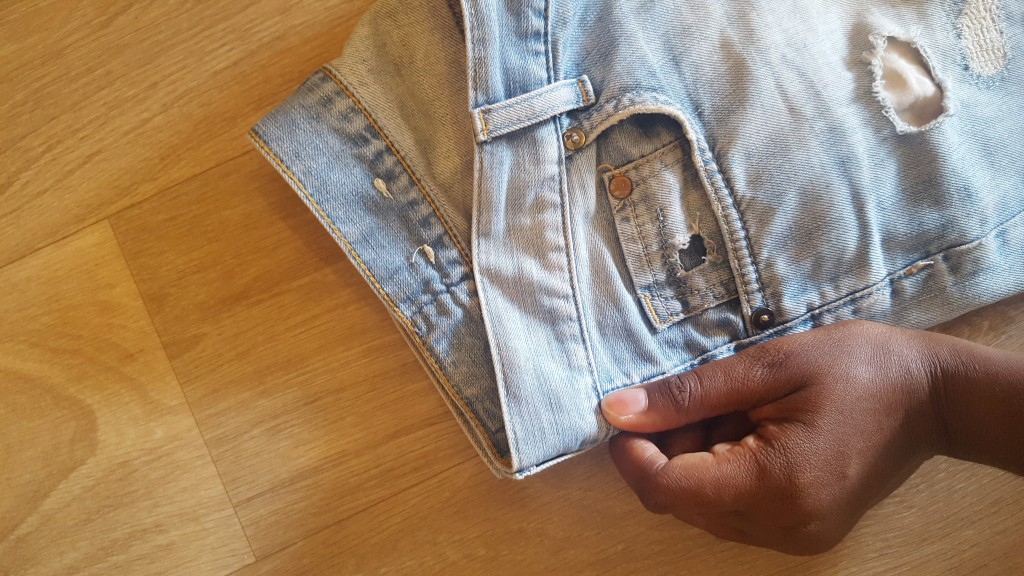 diy short en jean - let's talk about blog