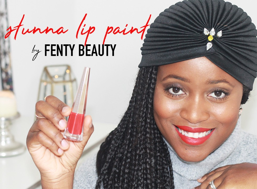 STUNNA LIP PAINT FENTY BEAUTY LETS TALK ABOUT BLOG REVUE RED ROUGE À LÈVRES